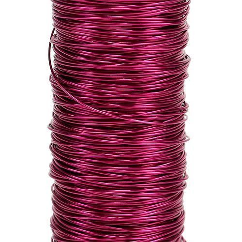 Koristeellinen emaloitu lanka Ø0,30mm 30g/50m Vaaleanpunainen