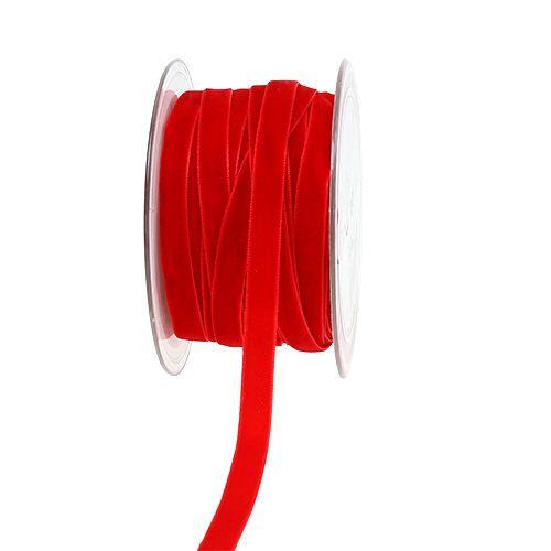 Koristeellinen nauha Sametti punainen 10mm 20m