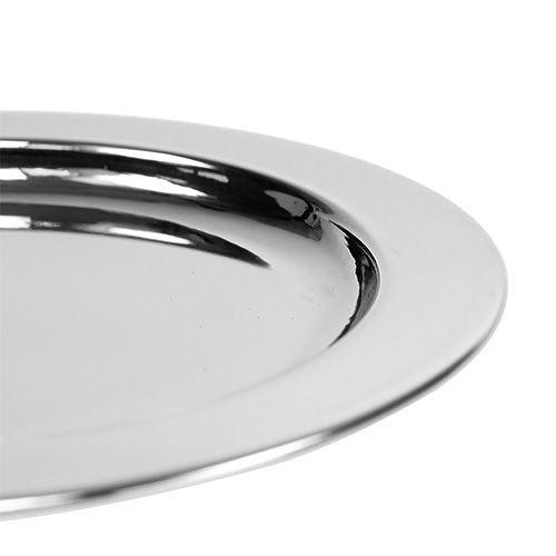 Koristelevy metallia Ø10.5cm hopeaa