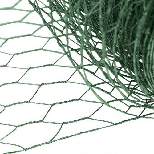Kuusikulmainen verkko vihreä lanka PVC päällystetty metalliverkko 50cm×10m