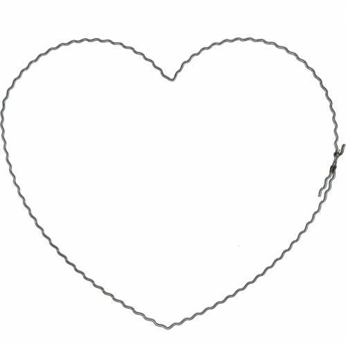 Lanka sydämet 20cm aaltoilevat renkaat seppeleen renkaat sydän 10kpl