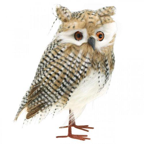 Koristeellinen pöllö, syksy, metsän eläin, talvi koriste H27cm