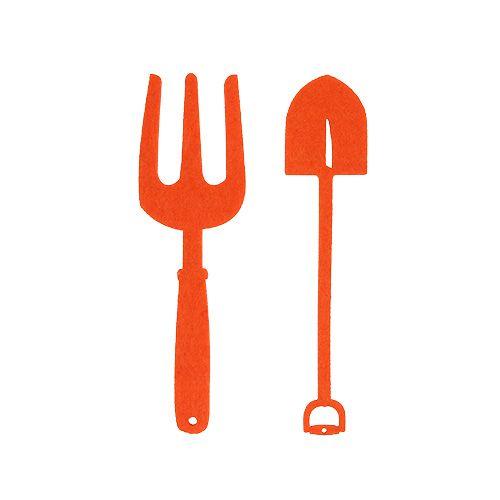 Huopa puutarhatyökalut oranssi 6kpl