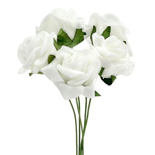 Vaahtoruusu Ø 3,5cm valkoinen 48kpl