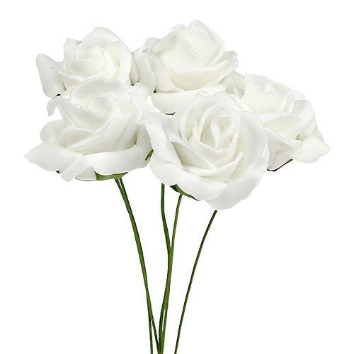 Vaahtoruusu Ø4,5cm valkoinen 36kpl