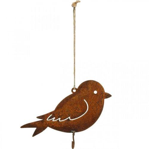Deco lintu, ruokalipasto, metallinen Deco Rust 19×13,5cm