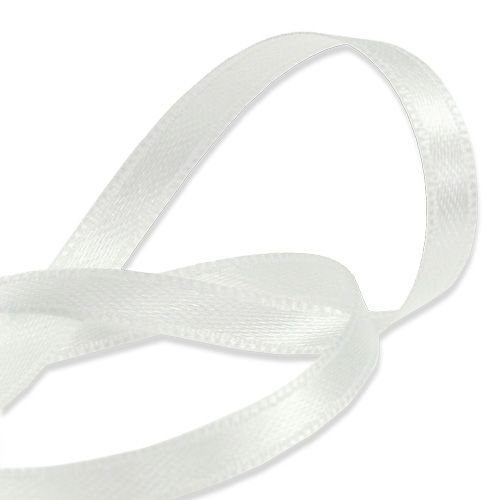 Lahja- ja koristelista nauha valkoinen 6mm 50m
