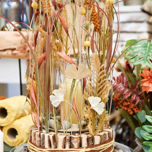Ginkgo-oksa Metallinen koristetulppa Ginkgo Kultainen 14×28cm 6kpl 6kpl