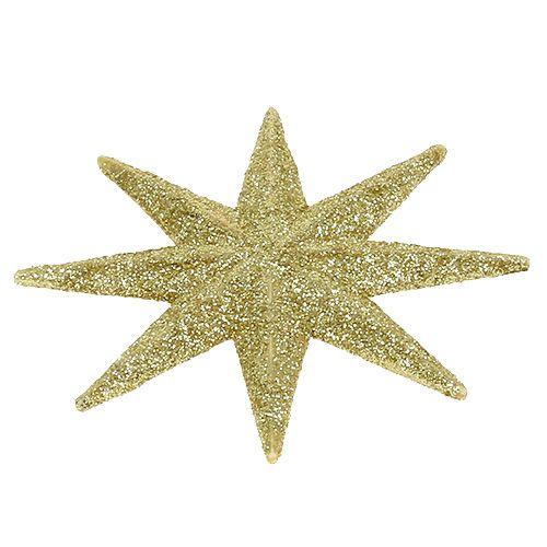 Glitter tähti kulta Ø10cm 12kpl