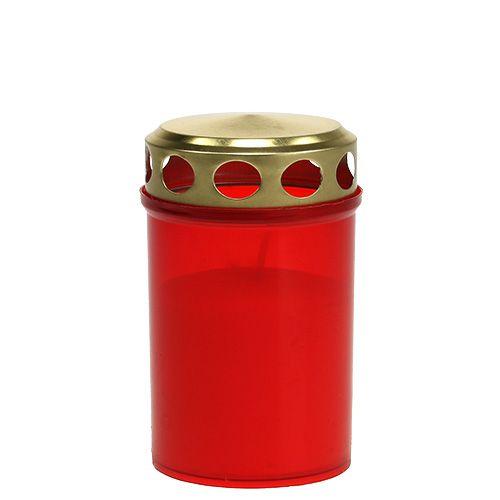 Hautavalo sylinterimäinen punainen Ø6cm H10cm 12kpl