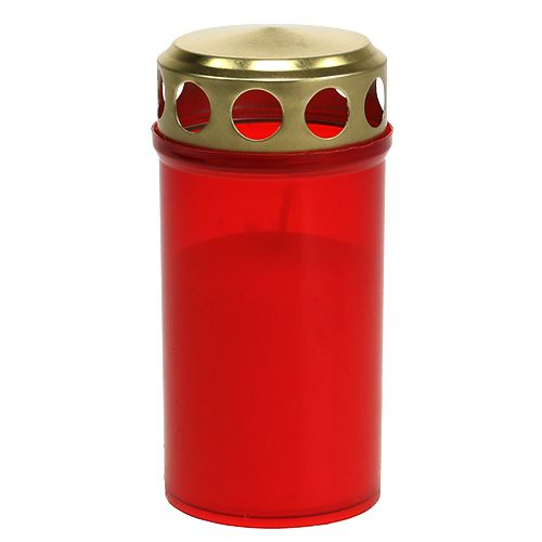 Hautakynttilä sylinterimäinen punainen Ø6cm K12cm 12kpl