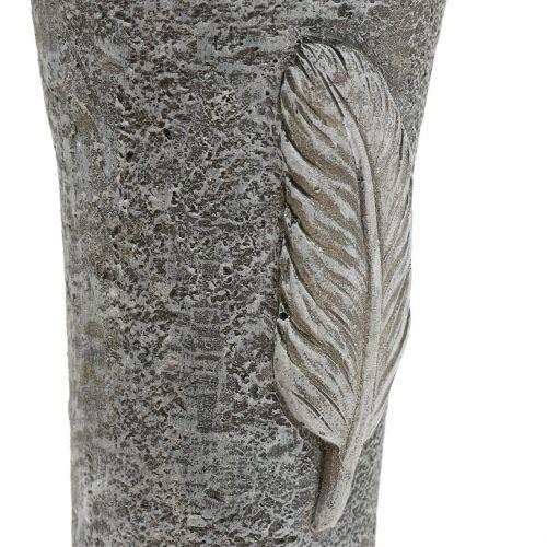 Hautamaljakko höyhenillä Harmaa 25,5cm 2kpl