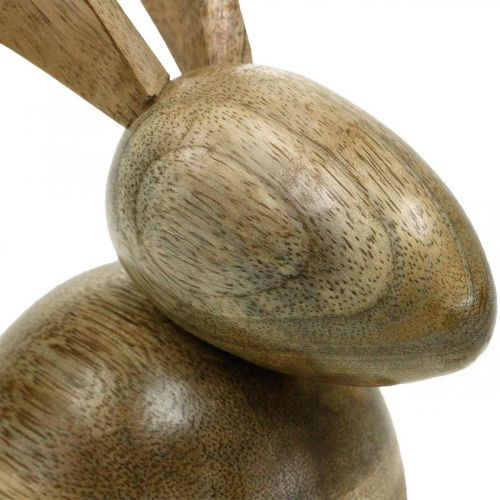 Puinen pupu istuu, koriste pupu, puinen koriste, pääsiäinen 18cm