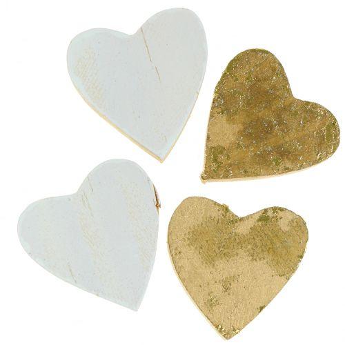 Puinen sydän pussissa 2cm - 4cm 24kpl