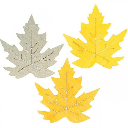 Syksyinen, vaahteranlehdet, syksyn lehdet Kultainen, Oranssi, Keltainen 4cm 72kpl.