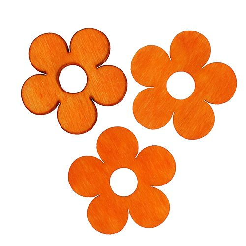 Puinen kukka ripottele oranssilla 4cm 72p