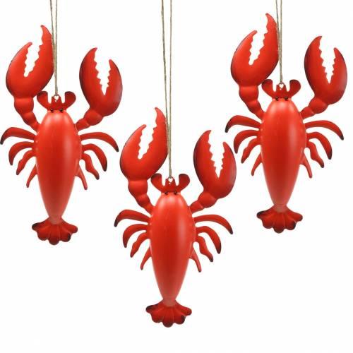 Hummeri koriste riipus metalli punainen 11,5x21,5cm 3kpl 3kpl