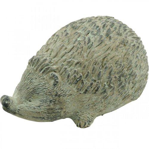 Koristeellinen hahmo Siili 22cm Puutarha Koriste Syksy Antiikki Vihreä 20×12×K10cm