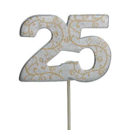 """Vuosipäivänumero """"25"""" valmistettu puuhopeasta 36kpl"""