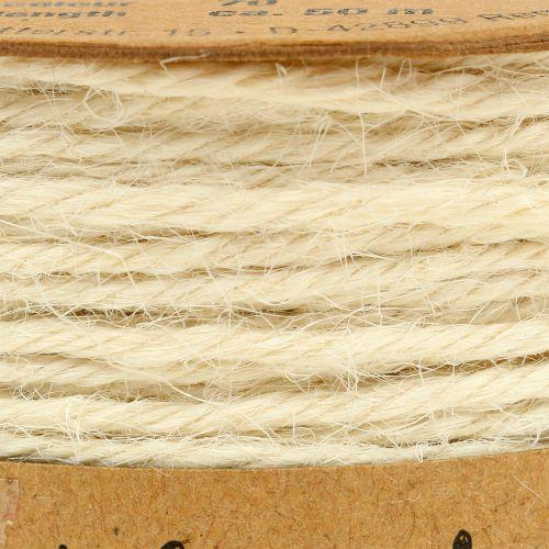 Juuttilanka valkoinen Ø2mm 100g