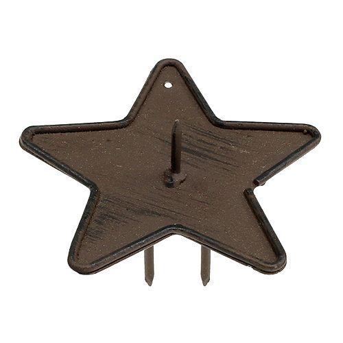 Kynttilänpidin Star to Stick 9cm ruskea