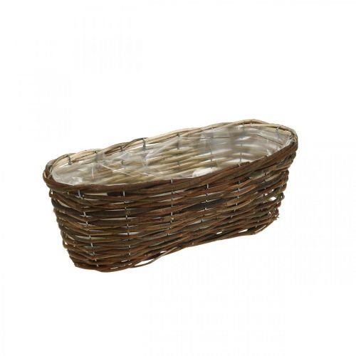 Istutuskori, kukkakoriste, puinen kori luonto L35cm 11,5cm 11,5cm
