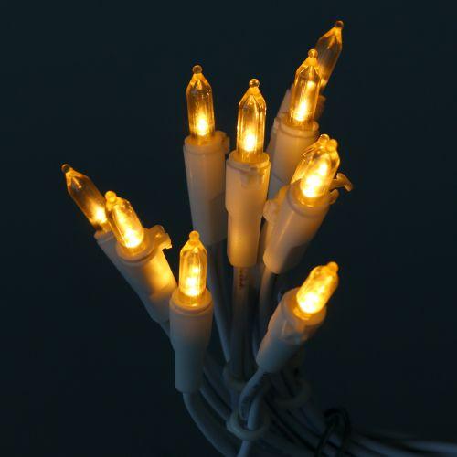 LED-miniketju 10L valkoinen lämmin valkoinen 1,5m