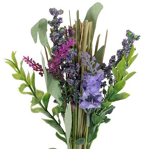 Keinotekoinen laventelinippu yrtteillä 23cm