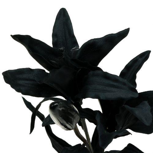 Keinotekoinen Kukka Lilja Musta 84cm