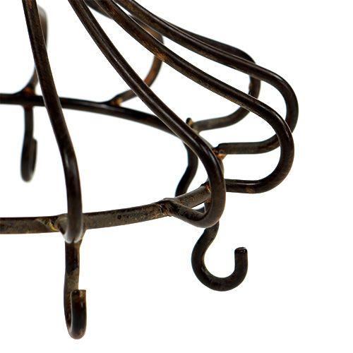 Metallinen kruunu ruskeaan ripustamiseen