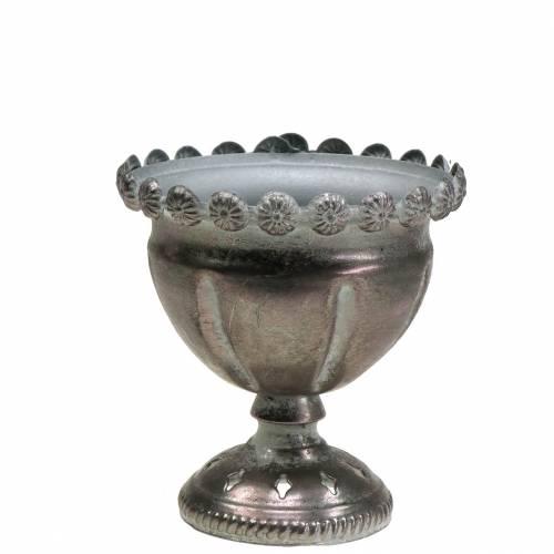 Koristeellinen kuppi metalliharmaa, hopea Ø13cm K14,5cm