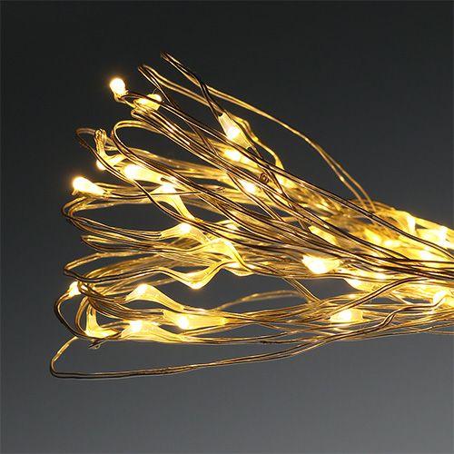 Mikro-valoketjun LED-valot ulkona / sisällä 120 lämminvalkoinen