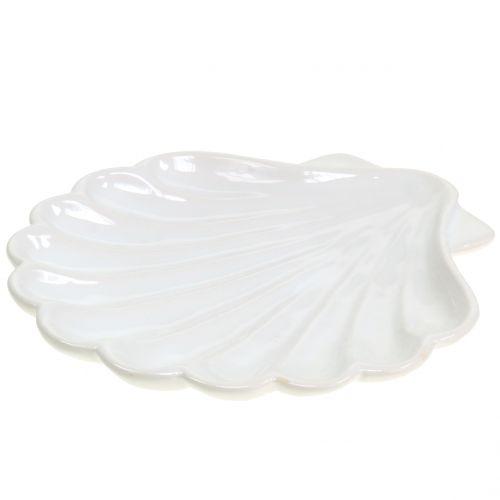 Koristeellinen kuoren kuori valkoinen 15cm x 16cm 3kpl