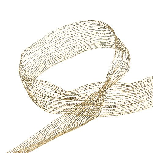 Verkkoteippi kultalangalla vahvistettu 40mm 15m