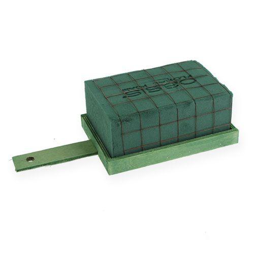 Kiinni vaahto tiili vihreä metalli puu 4kpl kukka järjestelyn Base