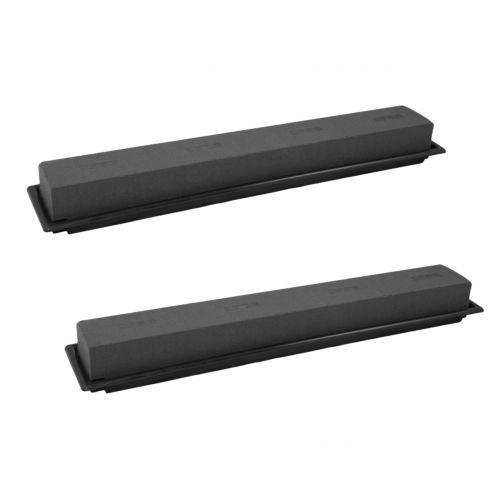 Pistokekokoinen pöytäkoristelista vaahtomuovi musta 48cm 4kpl
