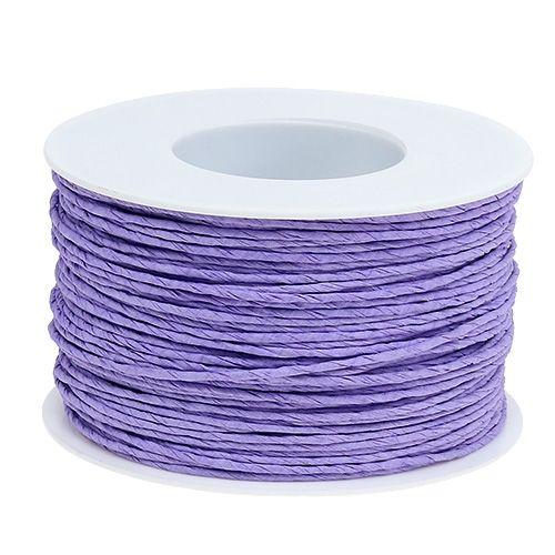 Paperi johto kääritty Ø2mm 100m laventeliin