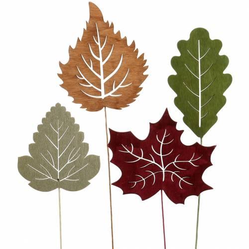 Kasvitulppulehti 8-10cm luonnon / vihreä / violetti 24kpl