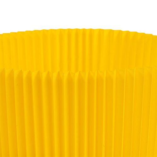Laskostetut hihansuut keltainen 8,5cm 100kpl.