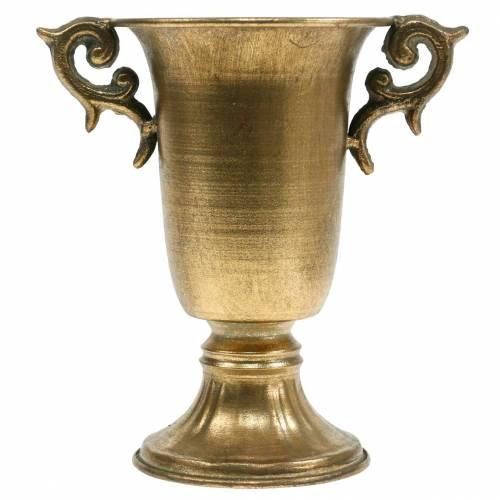 Deco pikari kahvoilla Kultainen Ø11cm H17,8cm Antiikkinen lookki