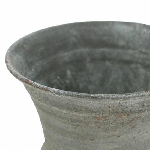 Istutuskupin pikari antiikkiharmaa Ø7,5cm H9cm