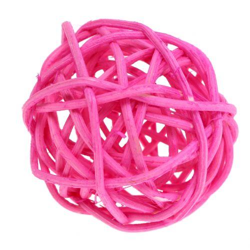 Rottinkipallot vaaleanpunaisia valikoituja Ø4cm 24kpl