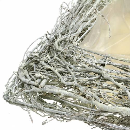 Kasvityyny Twigs White Washed 40cm x 40cm H10cm
