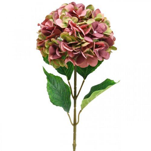 Hortensia keinotekoinen vaaleanpunainen, Bordeaux keinotekoinen kukka suuri 80cm