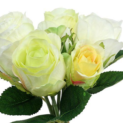 Ruusunippu valkoinen-vihreä Ø15cm L25cm