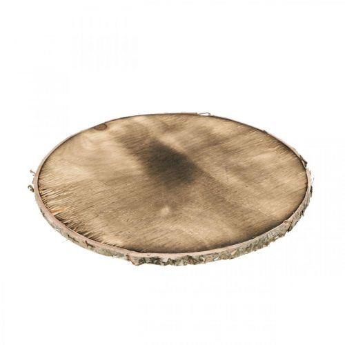 Deco puukiekko Flamed maalaismainen puinen deco vaneri Ø20cm
