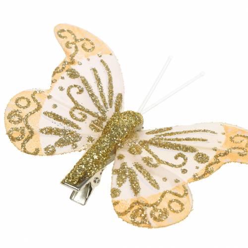 Sulka Perhonen Clip Gold Glitter 10kpl