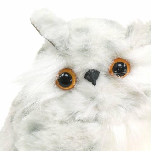Lumipöllöt valkoinen 15cm 2kpl