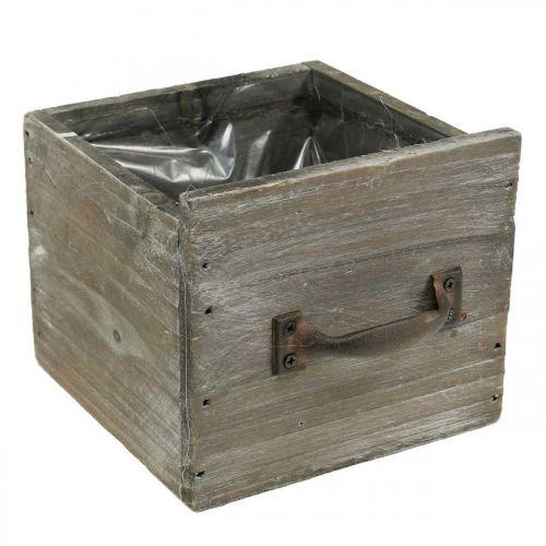 Kasvi laatikko Shabby Chic puinen koriste Luonto 12,5×12,5×11cm