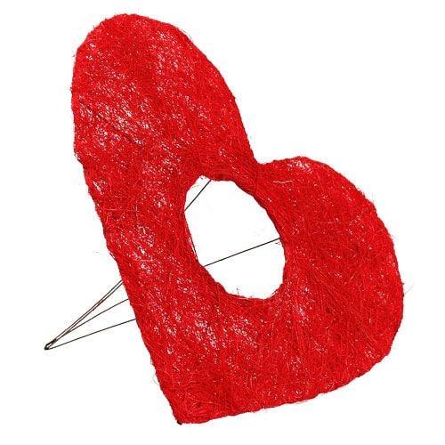 Sisal-ranneke 25cm punainen 10kpl